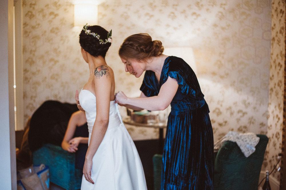 Claudia- Wedding Dress- Bridal Hair- Rye