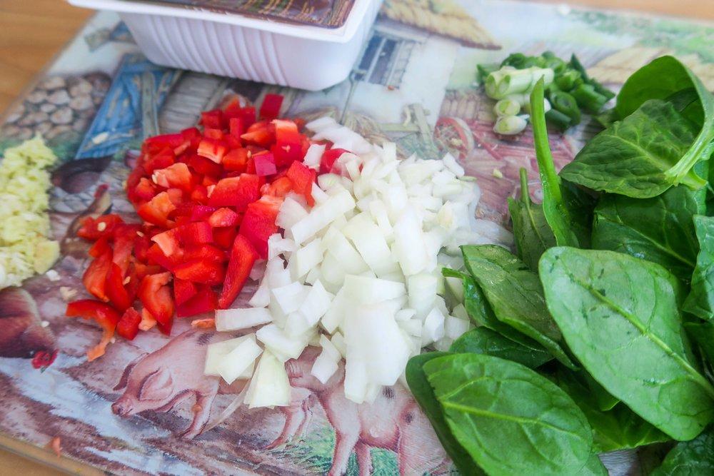 Tofu scramble ingredients