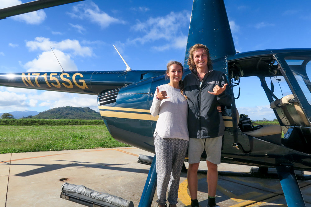 Amazing helicopter tour in Kauaii!