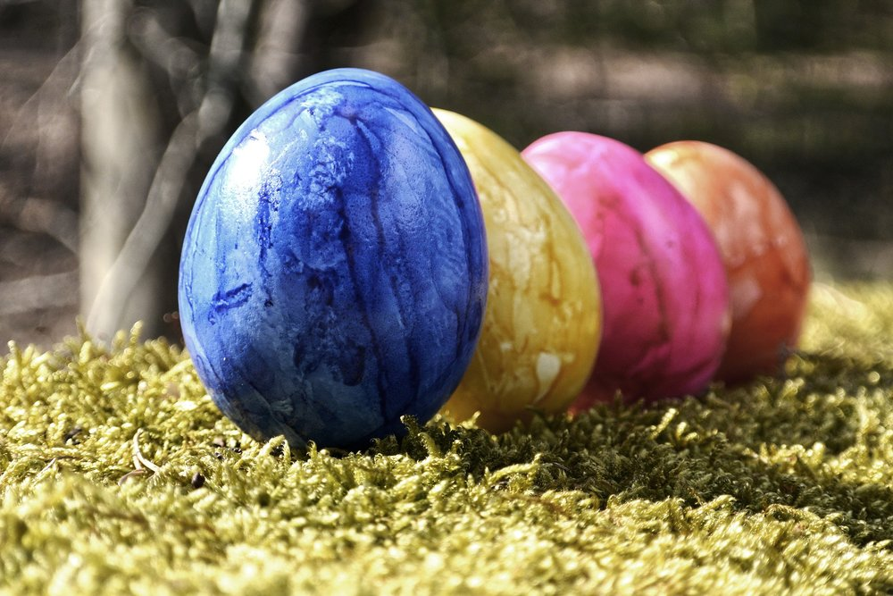 painted easter eggs photo to represent a present when you invest in IT equipments before the end of you tax return