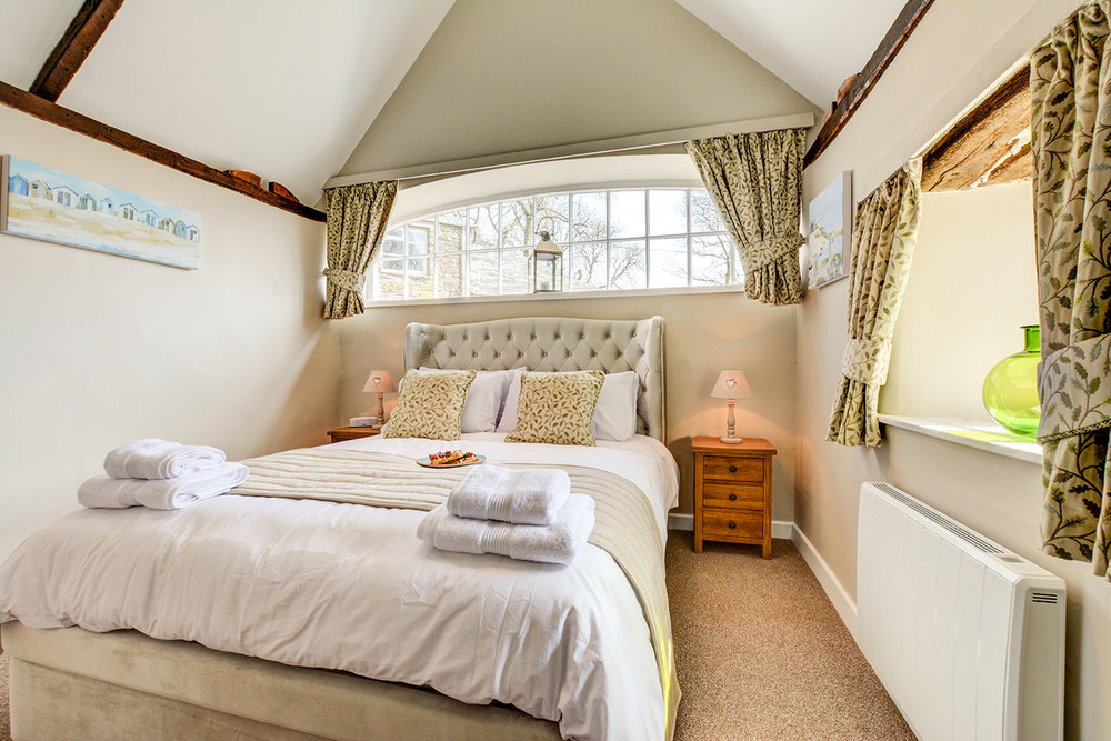The bedroom at Jingles luxury self catering holiday cottage at Penrose Burden in North Cornwall near Bodmin Moor01.jpg