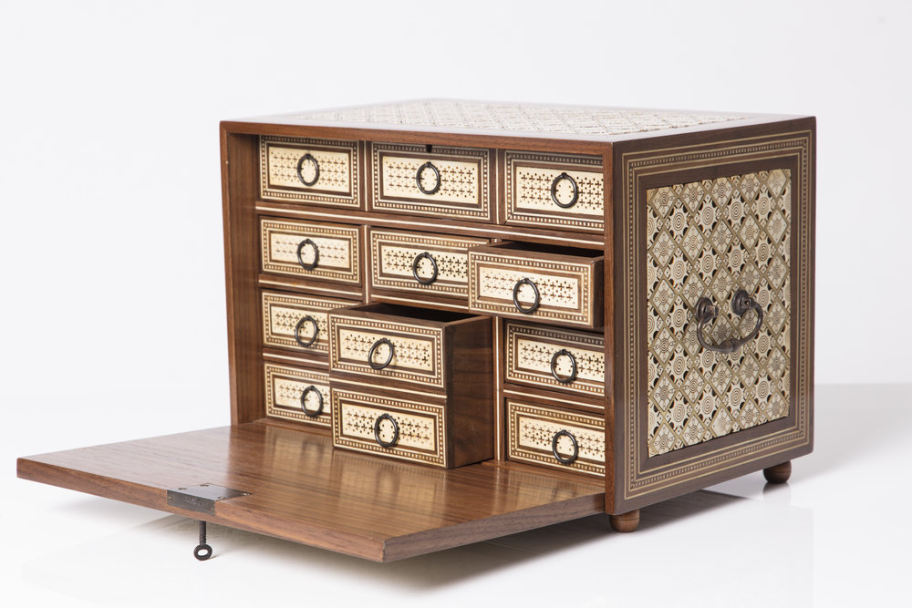 Sibylle Tarazi_Curiosity Cabinets_Sea of Love_Drawers profile_2017.jpg