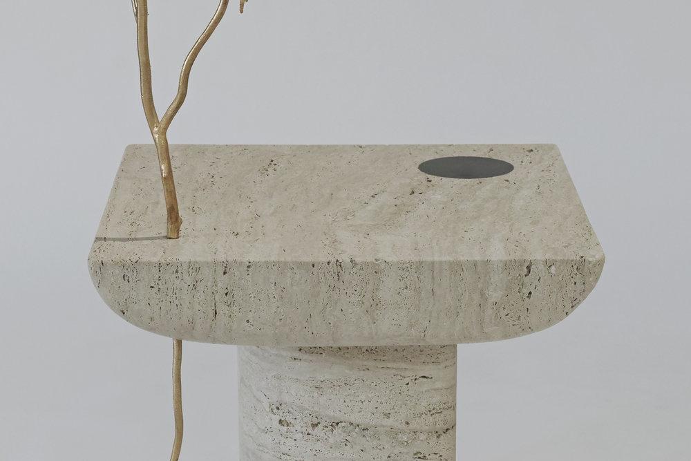 'Shifting Times' Sibylle Tarazi marble detail