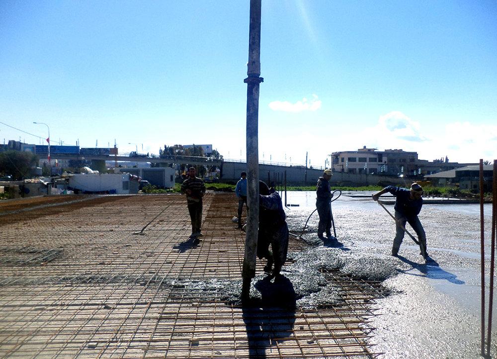 Ready-Mix concrete casting