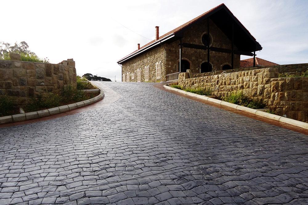 Serpentine Stamped  Concrete