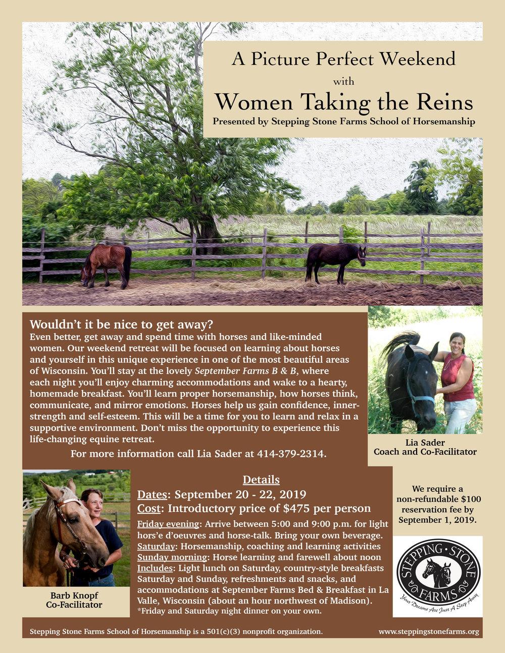 Women Taking the Reins Retreat Flyer