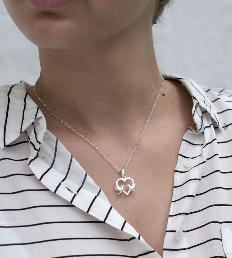 Martha Jackson lovebirds necklace