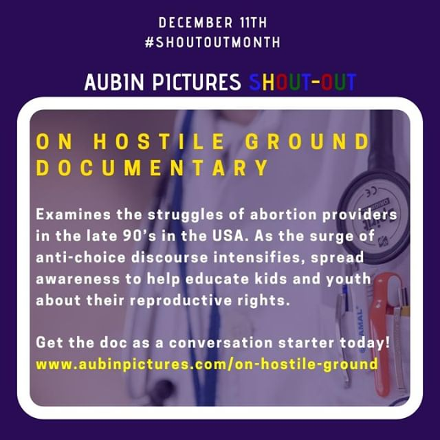 On Hostile Ground examines the struggles of abortion providers in the late 90's in the USA. As the surge of anti-choice discourse intensifies, spread awareness to help educate kids and youth about their reproductive rights. #reproductivejustice Get the doc as a conversation starter today! www.aubinpictures.com/on-hostile-ground ... Aubin Pictures' mission is to develop, produce and distribute cultural content that leads to social awareness and transformation. With 🗣 #ShoutOutMonth 🗣we hope to inspire dialogue and foster community building around the social issues that matter most to us.
