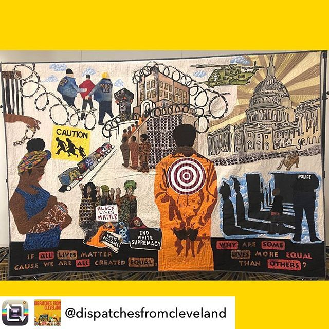 Repost from @dispatchesfromcleveland - We screened our documentary Dispatches from Cleveland at FACING RACE this year. Racial justice work can be exhausting, but radical art kept us all going during the conference! Here's a pic snapped by our team. If you know who the artist is, tell us so we can tag them! 🔥🔥🔥