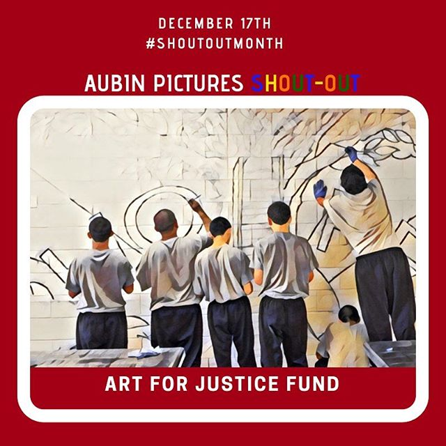 "Art for Justice Foundation ""We connect the generosity of collectors with the creativity of artists and the ingenuity of advocates to help solve the crisis of mass incarceration."" https://artforjusticefund.org/about/  #ArtForJustice #AFJ #AgnesGund #MassEncarceration #PrisonIndustrialComplex ... Aubin Pictures' mission is to develop, produce and distribute cultural content that leads to social awareness and transformation. With 🗣 #ShoutOutMonth🗣we hope to inspire dialogue and foster community building around the social issues that matter most to us."