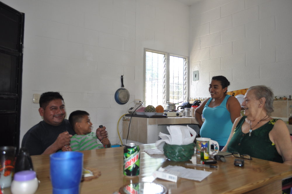 Gloria and the family that takes care of her. We cut her hair in the meantime :)