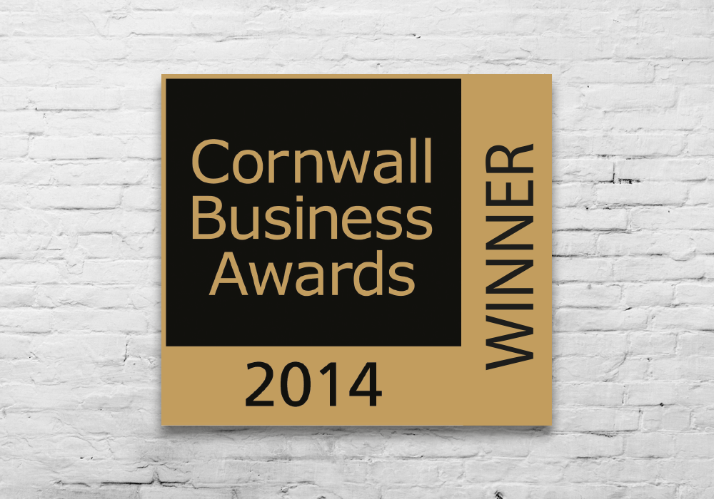 cornwall business awards 14 - Winner; Most creative design