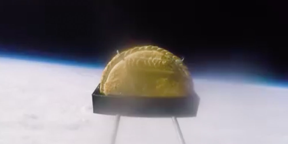 See a pasty in space - WATCH THE VIDEO