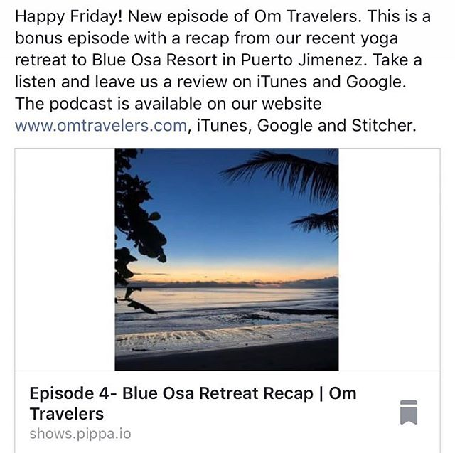 New bonus episode of our  podcast released brought to you by @tyc315. This one is a recap of our recent yoga retreat to @blueosa. There are more awesome guests lined up to be released soon. We've been enjoying hearing your feedback and guest suggestions, so keep them coming! #oyoga #omtravelers #podcast #spreadingpositivevibes