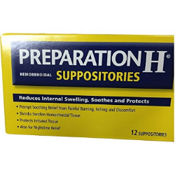 Amazon com  Preparation H Hemorrhoidal Suppositories  12 Count  Pack of 1   Health   Personal Care.png