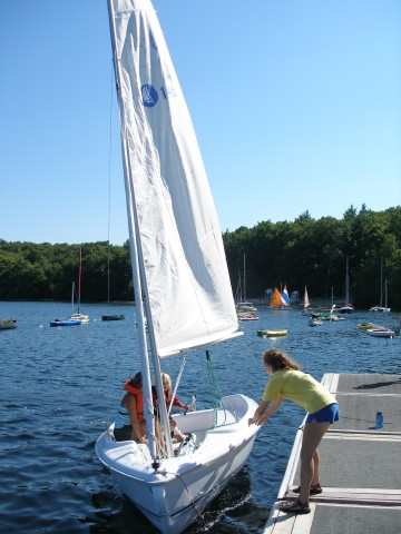 All classes are held at the SYC docks on Farm Pond and are open to anyone who is interested and can swim.. Parking is by permit only. Non-Sherborn residents participating in the program may get a special parking permit from the Town of Sherborn, valid for the duration of the class. The Town will charge a fee.