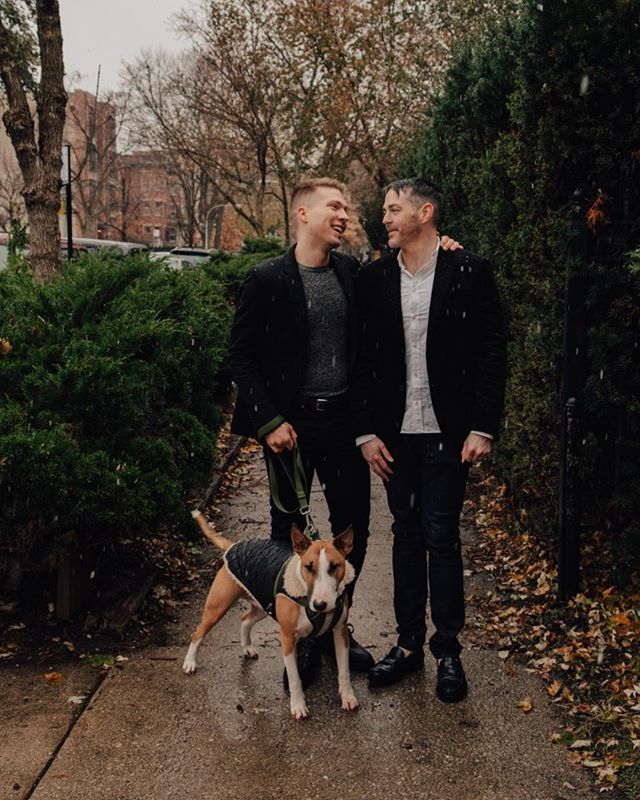 Love is love 💕Grateful for our trio of a family. I might be bias, but we are all pretty adorable! 👬🐶🥰 Meanwhile, I can't believe it's almost holiday! Time is such a silly thing 🎄 I still haven't even done my holiday shopping yet! 🤦🏼‍♂️