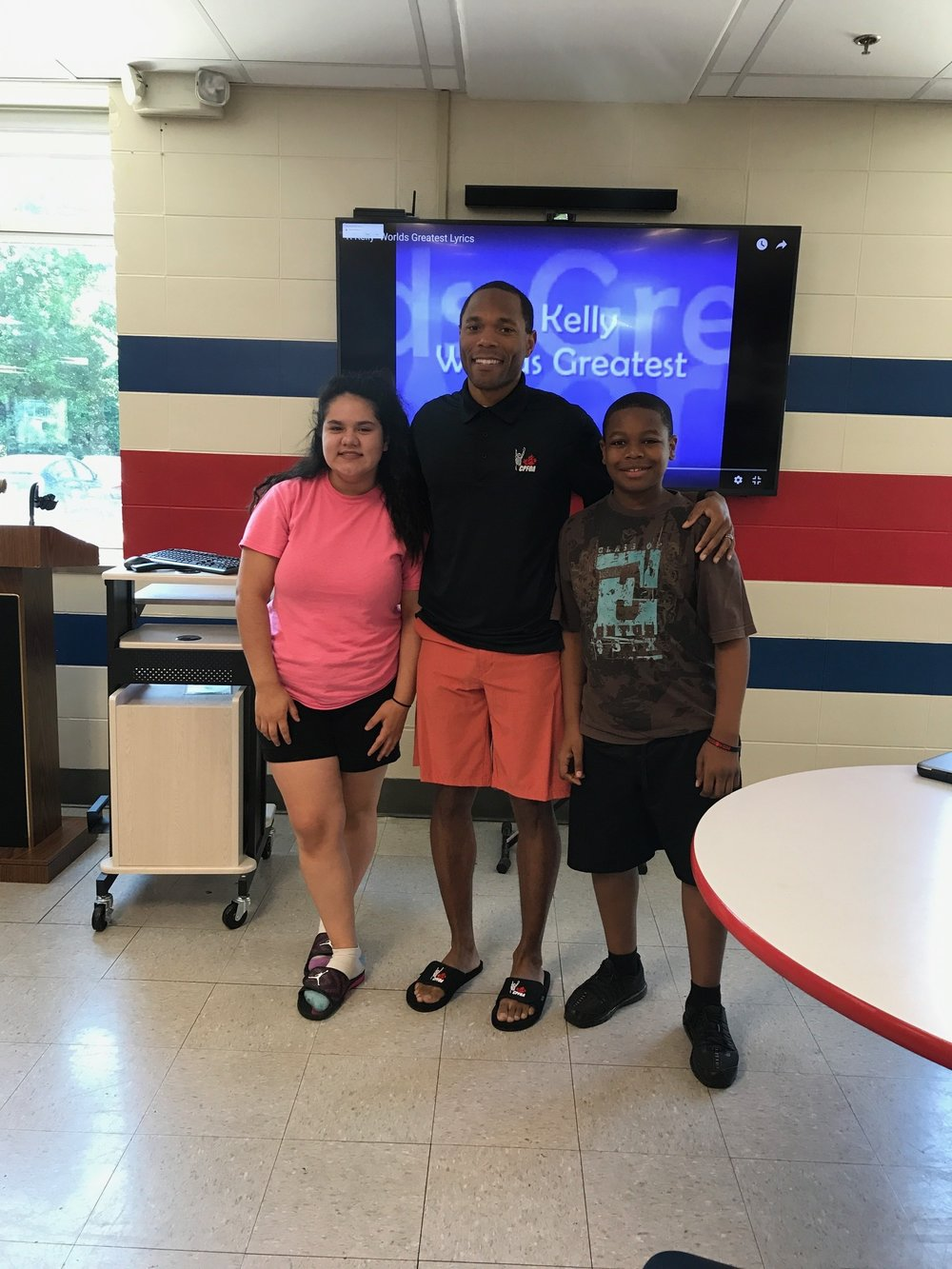 Teacher Jabir Walker with two of our scholars