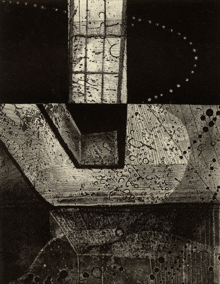 "Room III,  etching, 6.5""x9"" 2014"