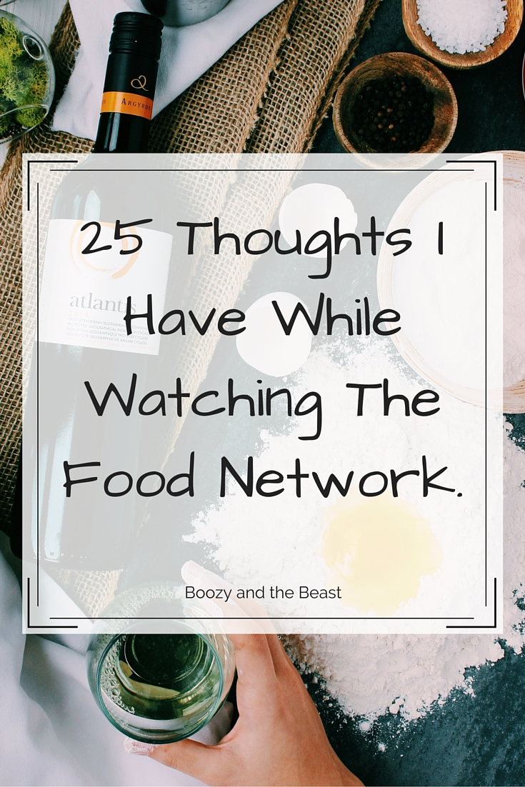 thoughtsWatchingFoodNetwork