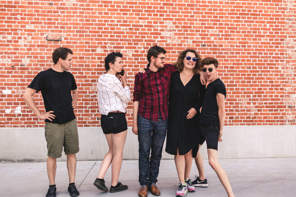Robbe, Aimée, Frederik, Nathalie, Karolien het Talent Grid  team