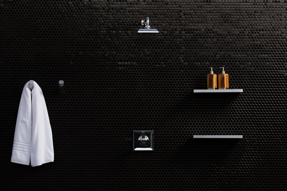 "Black Shower 16"" Shelf"