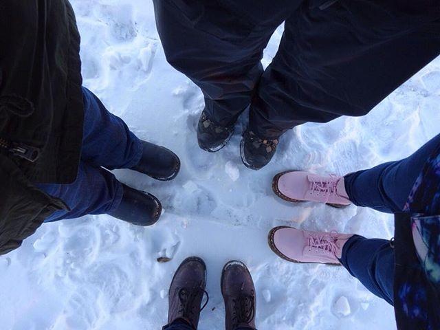 Snow! #Iceland #Reykjavik #shoeselfi #boots #tripstagram #cold