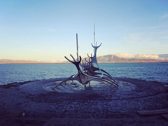 Also along the waterfront, a Viking boat. It was a tad cold at this point to really stop and have a proper look and read, but it looked awesome! #Iceland #Vikings #Boat #sculpture #tripstagram #travel #Backpacking #Reykjavik