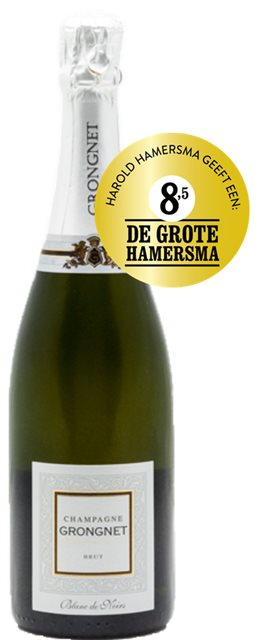 Grongnet Blanc de Noirs, normaal 27,50 met Make Me Wine korting € 24,75