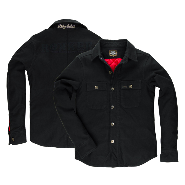 ROKKER BLACK JACK RIDER SHIRT   - Classic Shirt-fit with waterproof zips and button stand with red lining, which provides extra warmth  - Jacket made of 100% 14oz schoeller®-dynatec (non abrasive, wind and water resistant)  - Coldblack® finishing technology (reflects heat and UV-rays)  - NanoShere® finishing technology (increases the water and dirt repelling properties)  - Bluesign® (strictest seal of quality for environment, health and security)
