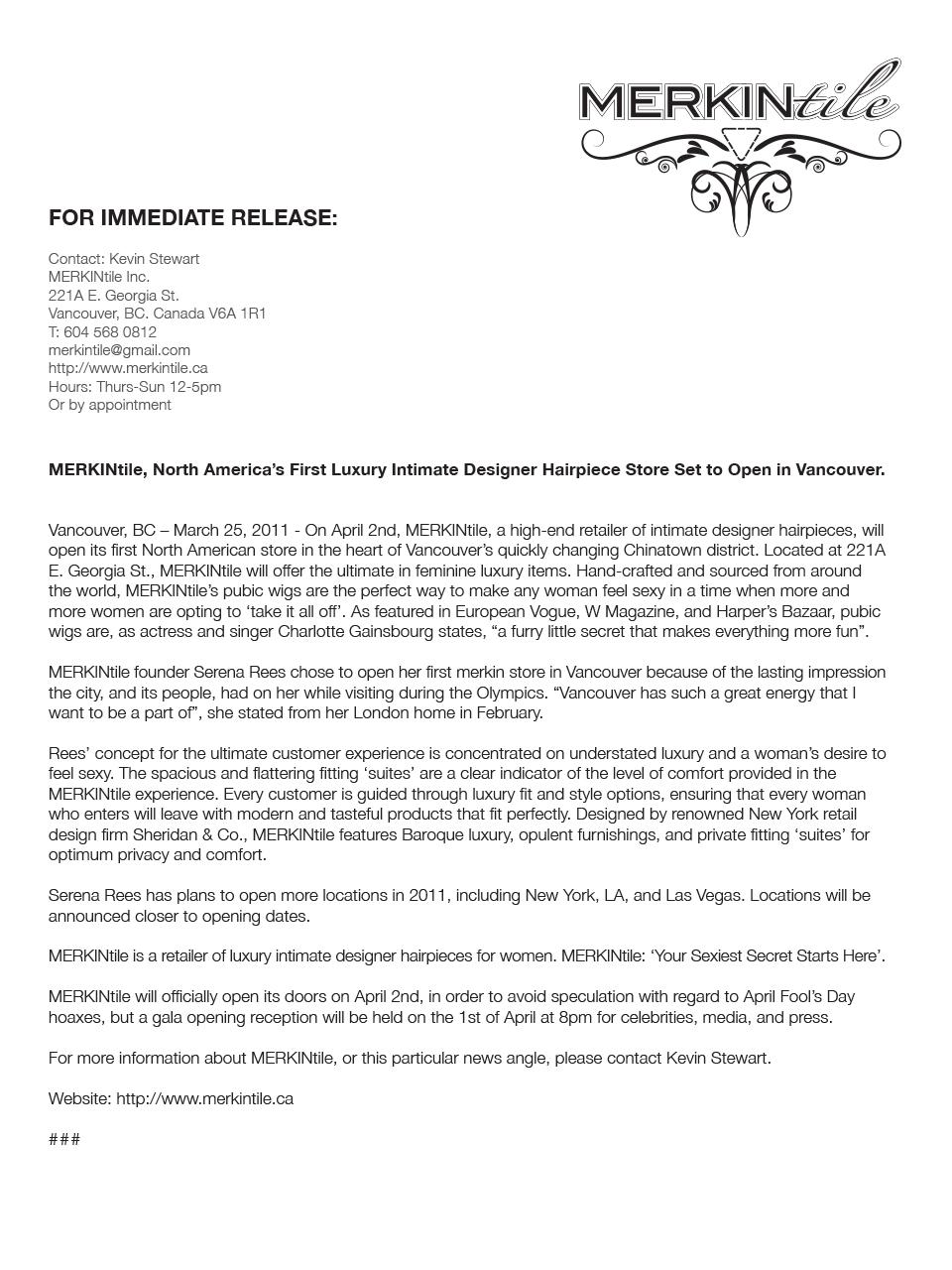 MERKINtile Press Release