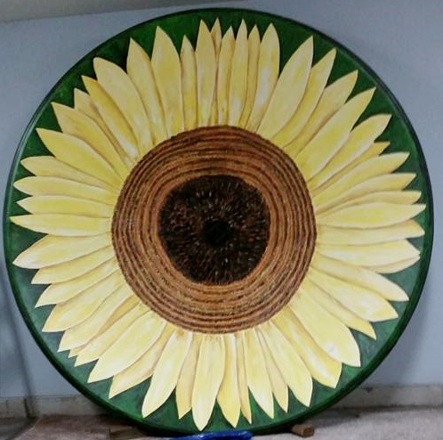 Sunflower Satellite Dish