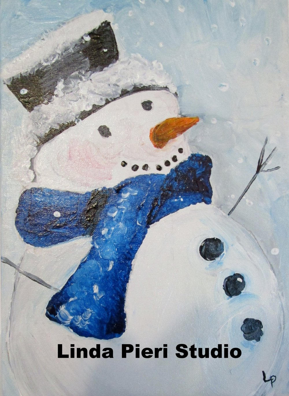 Snowman with Blue Scarf (level 1)