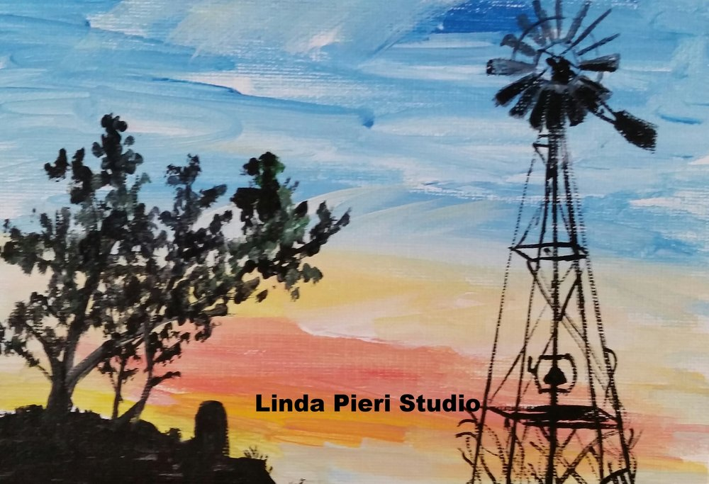 Sunset with Windmill (1)