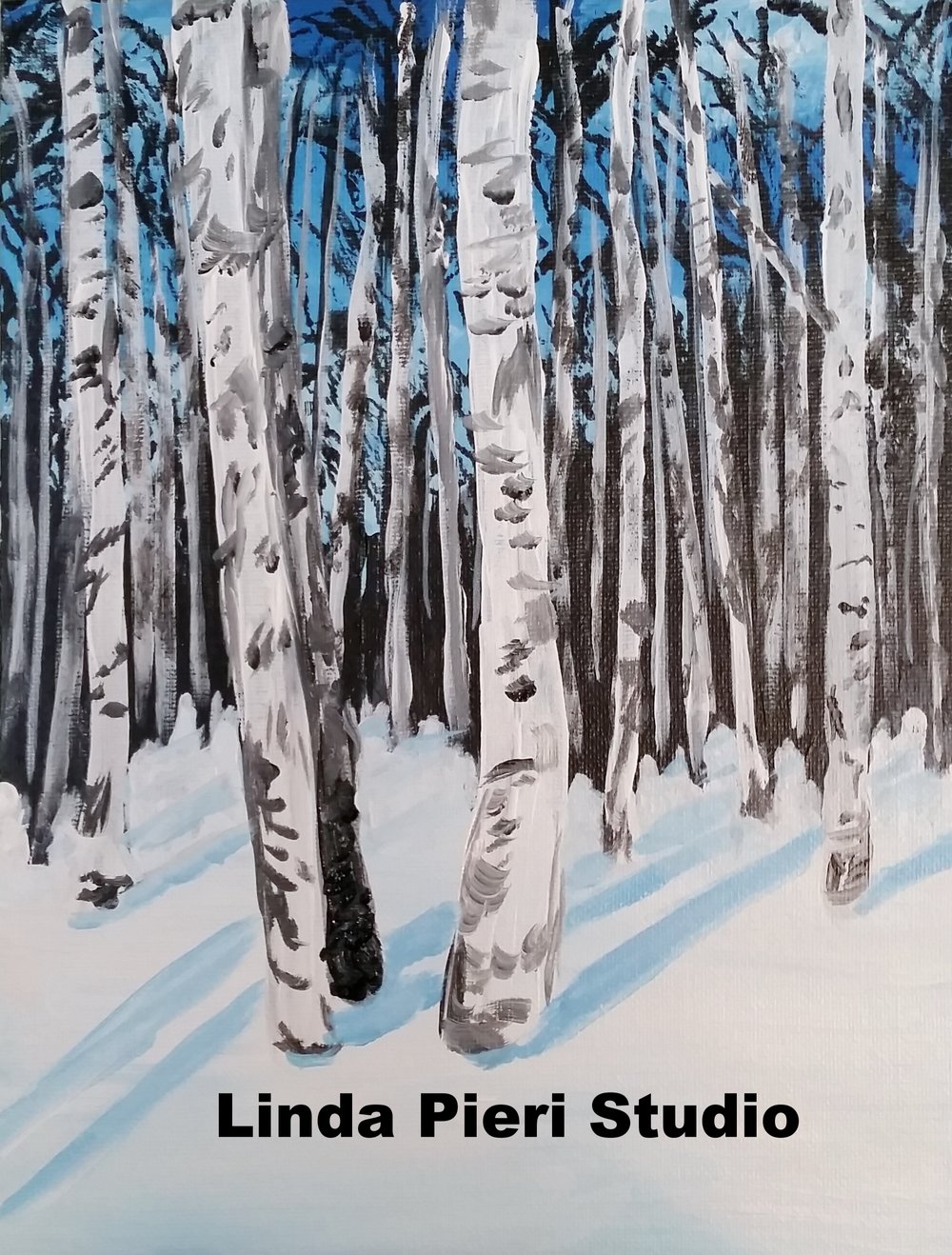 White Birch in the Snow (level 1)