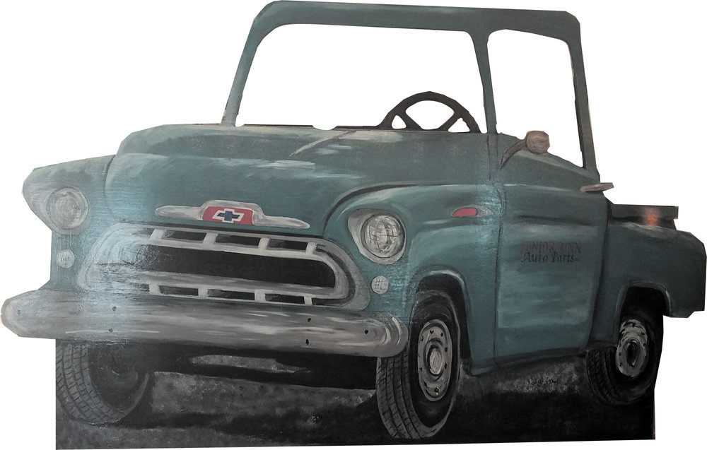 1955 Ocean Green Chevy Pickup