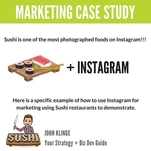 🍣SUSHI Marketing 101 - Educate your Fans!⠀ ⠀ ❤️The world loves sushi!!! So do we!!! Instagramers around the world love, love, love posting pictures of their favorite sushi…do you realize how amazing this is??!!!⠀ ⠀ 🍤Restaurant owners serving sushi, LISTEN UP!!!! You have a golden opportunity here!  You have loyal fans all over the place!!!⠀ ⠀ 🍱Educate your customers on all the types of sushi:  maki, temaki, uramaki, sashimi, and nigiri… create written content around beautiful photographs of your edible treats!⠀ ⠀ ☝️What type is your restaurants' specialty?  Show your fans!!! Educate your fans!!! When you are creating your Instagram posts, your goal is to be THE place people go to when they think about sushi!!! Build a sushi loving community and when they are hungry they wont think twice about which place to go to.⠀ ⠀ 😋Hungry yet???!!!! Wow, we sure are!  Tuna and California Rolls are some of our favs…extra soy sauce please!!! And Thank you!!!!! ⠀ This same process can be applied to any industry. Create great content around your product and expertise.⠀ ⠀ 🤷♂️Have any questions on how to do this?  Need help finding amazing food photographers?  Let us know, we know a few! …all you have to do is ask! ⠀ ⠀ 👇Know a restaurant who could benefit from reading this?  Please tag them below!⠀ ⠀ —-⠀⠀ 📝 Caption written by: John Klinge @bigandstrongdad⠀⠀ —-⠀ ⠀ #eriepa #erie #weloveerie #eriestrong #buylocal #myerie #ourerie #presqueisle #814 #loveerie #sushi #businessadvice #businessowner #entrepreneur #strategy #smallbusiness #resturantowner #resturantowners #cheflife #sushiburrito #sushiroll #sushibar #sushitop #sushisushi #sushipizza #sushilover #sushigirl #sushibuffet