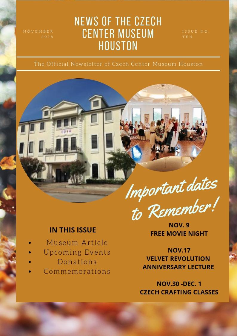 CCMH November 2018 Newsletter