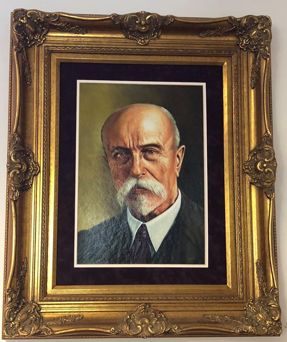 Portrait of  Tomáš G. Masaryk
