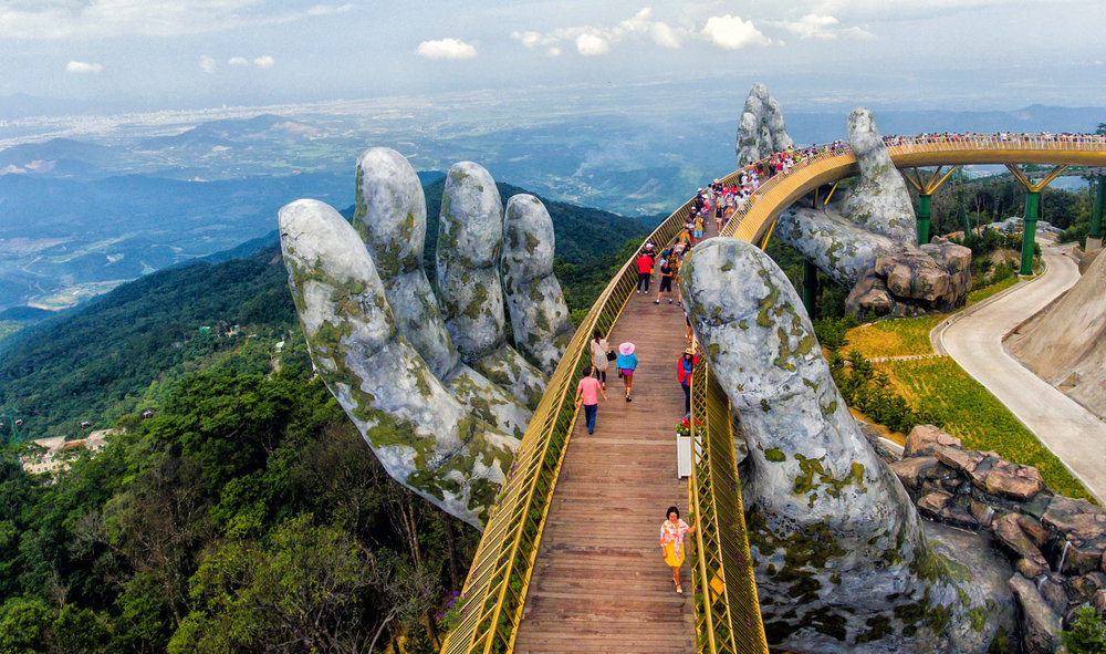 Golden Bridge in Ba Na Hill, Da Nang, this is one of the new symbol of Vietnam.