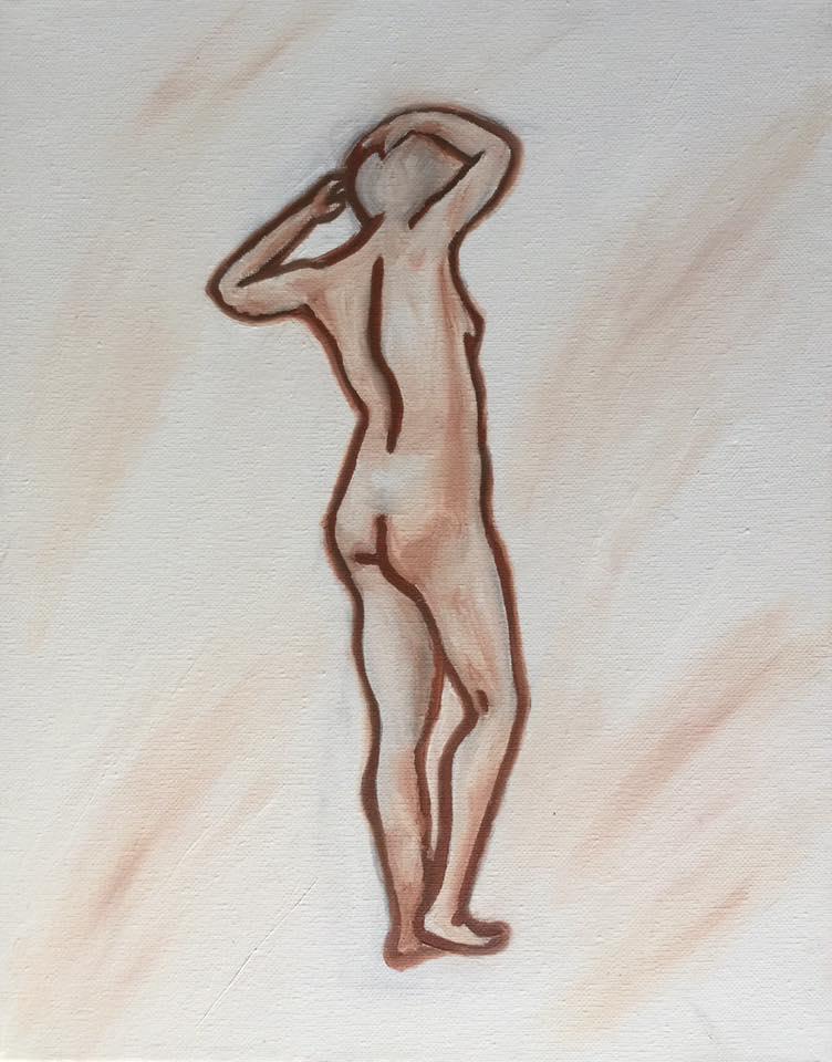 Gesture 3 - oil on Canvas