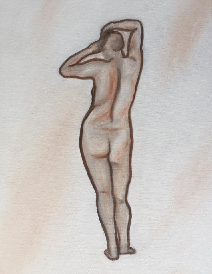 Gesture 4 - oil on Canvas