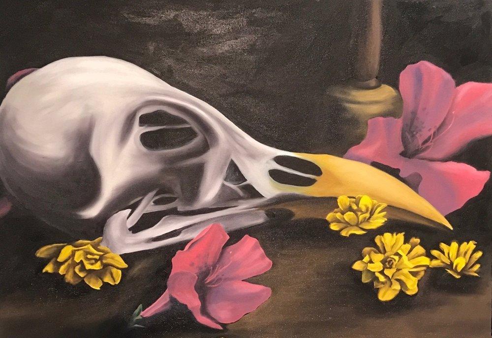 Hear the Nightingale - Oil on Canvas