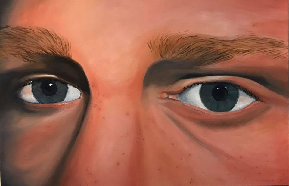 Self Portrait of Eyes - Oil on Canvas