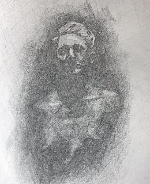 Sketch study for a painting to be coming soon. : : : #wip #figuredrawing #selfportrait #graphite #drawing #sketch