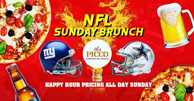 Are you a #NewYorkGiants or #DallasCowboys fan? Today everyone is a winner at Picco Tavern with all day #HappyHour!  #TreatYourself #njeats #njevents #bergencountyeats 🏈🏈🏈