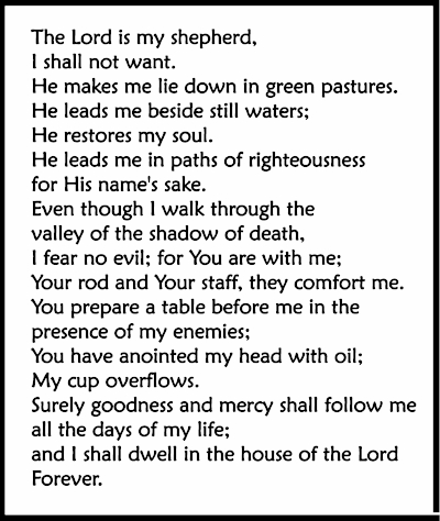 The Lord Is My Shepherd - Psalms 23