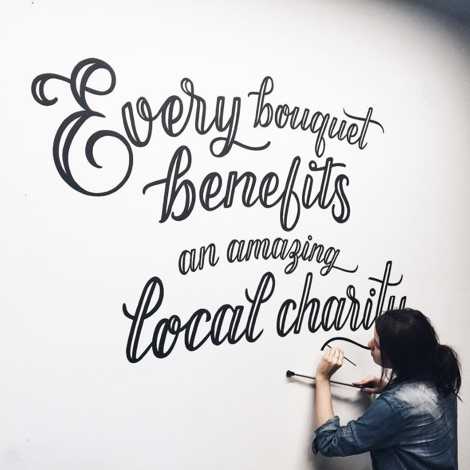 25% of profits go to charity. - Artist: Rightway Sighs | Ashley Stewack@rightwaysigns @ashleestewack