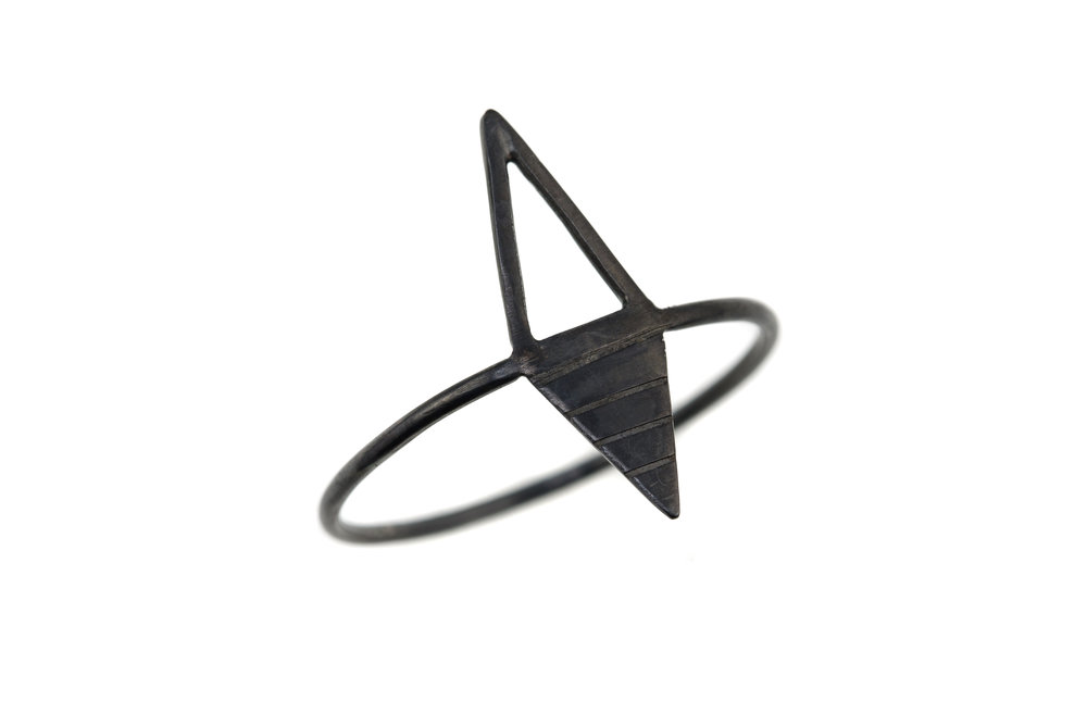 'Whirlwind' Ring - Oxidised Silver