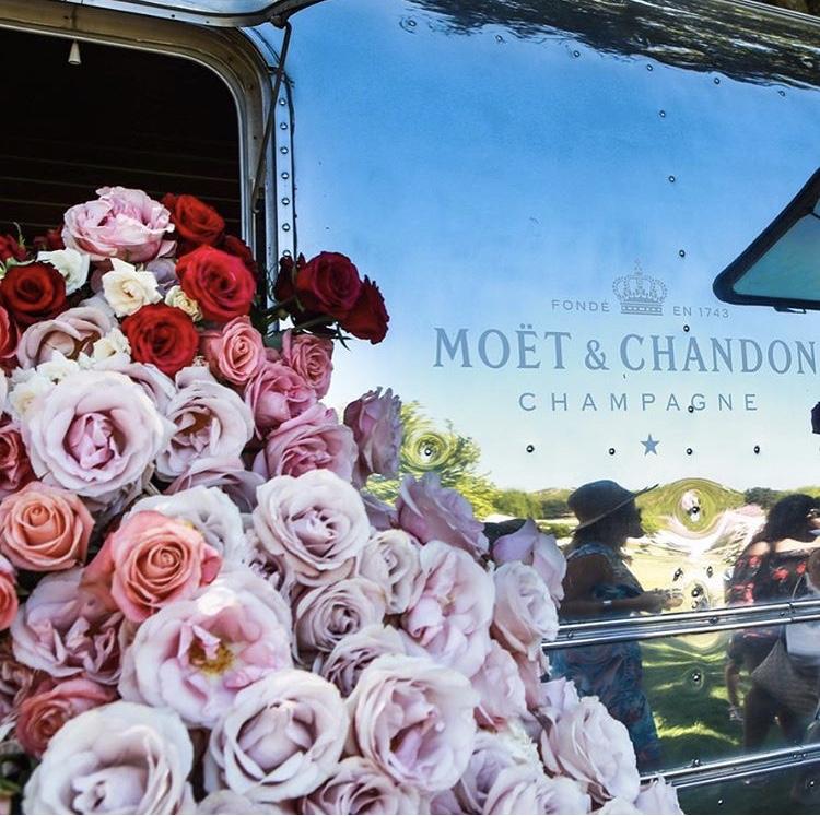 Rose Day LA Moet Champagne Lounge